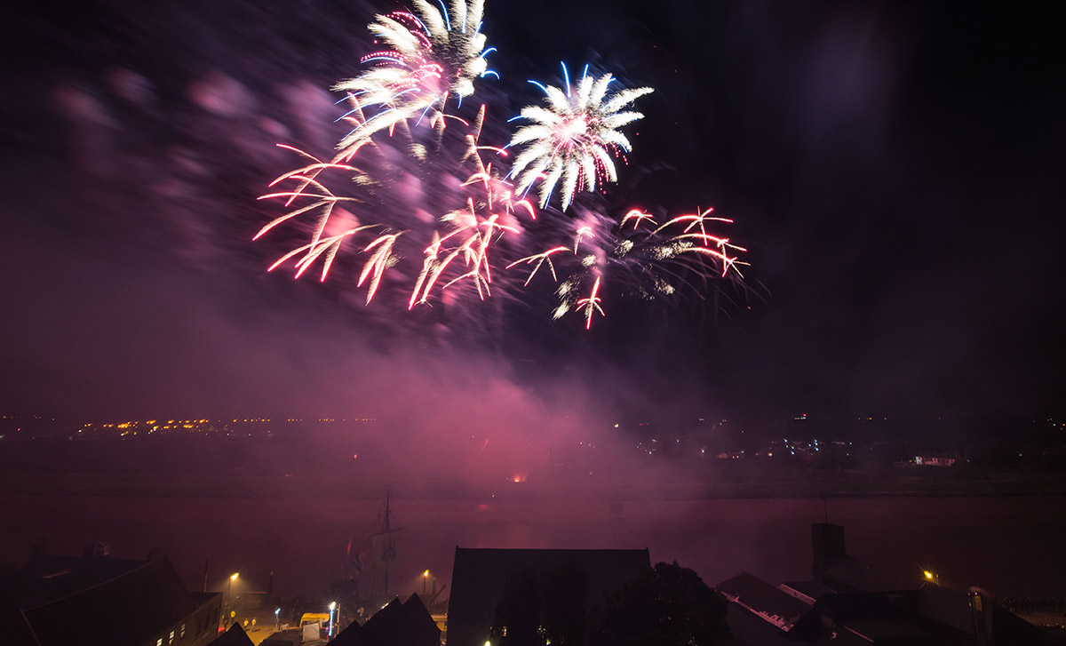 fireworks display hanse festival kings lynn
