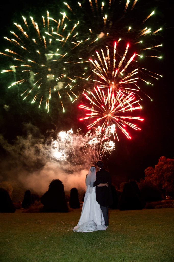 white lightning wedding fireworks norfolk